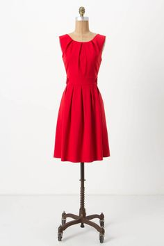 Crimson Pont Dress /