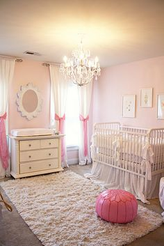 pink nursery...more brown and this would be my dream nursery for a girl.  #nursery #bedroom #homedecor #girlsroom