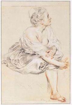 Seated Woman, 1716–17. Jean Antoine Watteau
