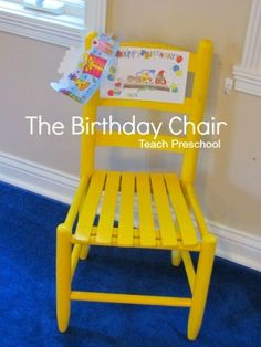 10 ways to use a birthday chair in the preschool classroom