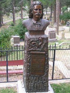 Wild Bill Hickok's tombstone. Deadwood, South Dakota, USA