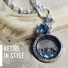 Retire in style with an Origami Owl Living Locket!