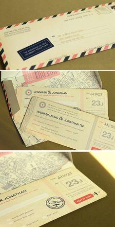 travel wedding invites