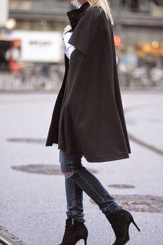 Cape   heeled-bootie