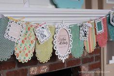 DIY Wedding Shower Banner & Mantel
