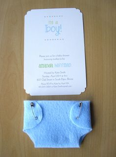 LOVE THIS IDEA! i love the felt diaper...dont get any ideas I am not pregnant just storing ideas for the near future