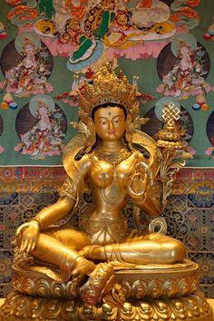 One of the 21 Tara statues at the temple at Tara Mandala retreat center - only Tibetan Buddhist temple dedicated to the divine feminine in the west. http://www.taramandala.org