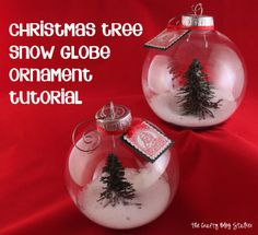 How to Make a Snow Globe Ornament www.thecraftyblogstalker.com with Tutorial Video!