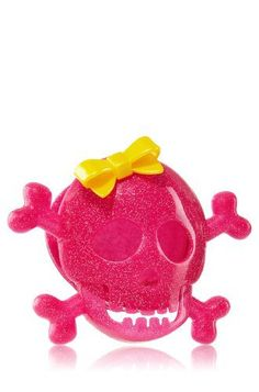 Slatkin  Co. SCENTPORTABLE Frosted Cupcake Pink Skull **Halloween**