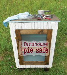 DIY:: Farmhouse Pie Safe ! Entire Cost was under twenty dollars !