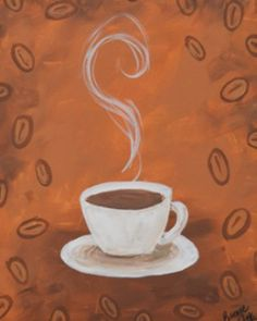 Coffee Cup - DIY canvas painting