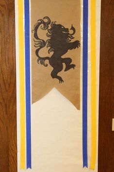 Renaissance Themed Scouts Blue & Gold Banquet/ Party/ Decoration ideas  Banners made with sharpies, butcher paper and streamers
