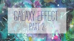 How to paint a galaxy - WATERCOLOR - part 2