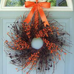 Fall Wreath - Halloween Wreath - Halloween Berry Wreath