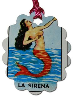 Mexican Loteria Paper Gift Tags