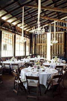 elegant   rustic barn wedding reception