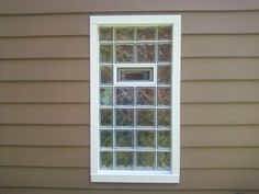 Glass block on pinterest walkout basement glasses and for Where to buy glass block windows