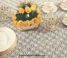 Free Crochet Spangled Tablecloth Pattern