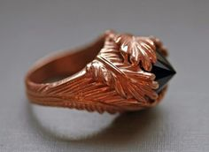 Hunger Games Wedding Jewelry Katniss rose gold feather ring