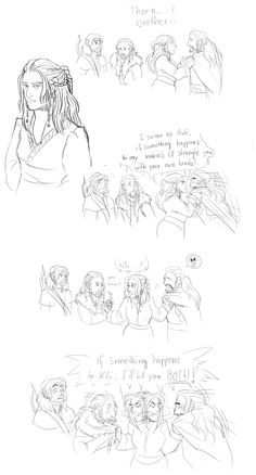 What Dis will do to Thorin should anything happen to her boys Fili and Kili, Hobbit fanart