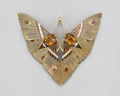Lucien Gaillard, Moth pendant, c.1900