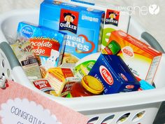 40 Fabulous Graduation Gift Ideas #23. . Food essentials kit: moving out on your own can be overwhelming.  Make the transition easier by stocking that new grad up with all of the food essentials he or she may need. **GREAT site for gifts** ♥mel
