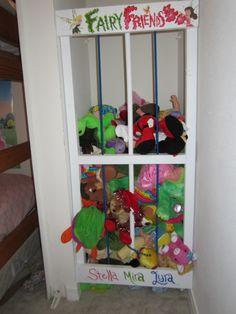 DIY Stuffed Animal Zoo Storage Solutions, Anim Storag, Zoo, Diy Cage Stuffed Animal, Stuf Anim, Storage Bins, Stuffed Animal Storage, Kid Room, Sliding Doors