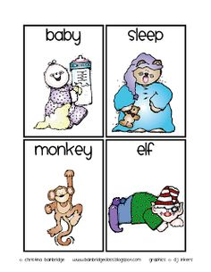 Short and Long E vowel sorting cards