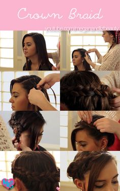 Check out our tutorial on how to do a festive crown braid!! http://www.youtube.com/watch?v=9IfNOAoKU-I <3 #hair #beauty #style #tutorial #howto #diy #crown #braid #fun