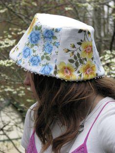 vintage hankie hat