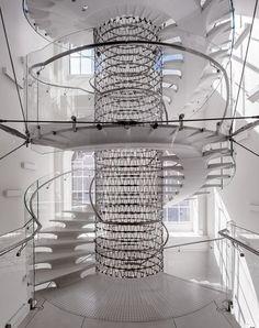 Staircase at Somerset House Eva Jiricna Architects