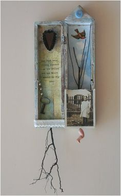 ⌼ Artistic Assemblages ⌼ Mixed Media & Collage Art - collage shadow box