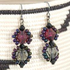 Seed Bead Framed Crystal Earrings Video
