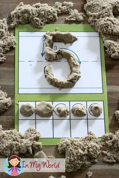 Use kinetic sand instead of play dough to practice correct number formation! So much fun for the little ones!