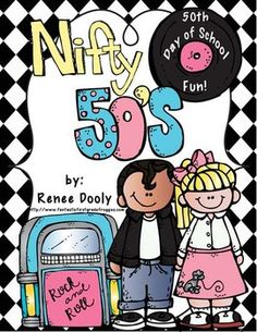 Nifty Fifties- 50th Day of School Math and Literacy Fun.