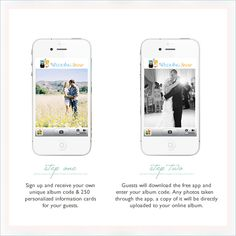 Create albums with photos from your guests with Wedding Snap