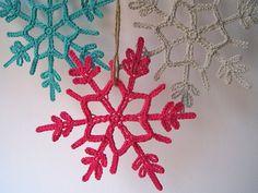 Crocheted Snowflakes!