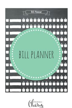 Need to get your financial life in order? Now is the time! Download this printable bill planner and whip yourself into shape!