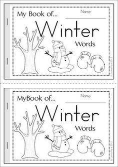 My Book of... Winter Words book