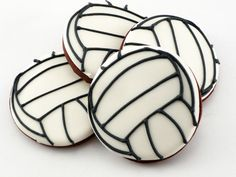 Decorated Cookies - Volleyball This does not have the recipe it is  just for the idea...