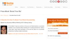 FREE eBook 'Boost Your Biz' ➠ 6 Secrets On How To Boost Your Brand Successfully And Market Your Business Without Working 24/7 Or Being Salesy     In this eBook Jakolien Sok from www.boostingyourbrand.com gives you advice on how you can finally become a successful marketer of your business without working 24/7 or being perceived as 'salesy'! Jakolien has been using these techniques in the last 5 years as a successful entrepreneur building multiple businesses. Get ur copy by clicking on the image!