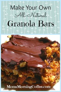 Homemade Granola Bars because chocolate