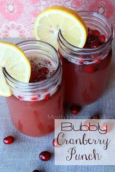 Mostly Homemade Mom: Bubbly Cranberry Punch food recip, cranberri sauc, cranberri punch, diet food, homemad mom, drink, cranberry sauce, bubbl cranberri, cranberries