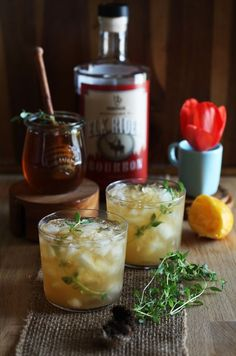 Bourbon Thyme Cocktail