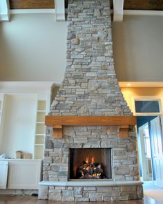 stone fireplaces | Cultured Stone Fireplace Piers Walls Chimney