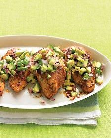Spicy chicken & avocado