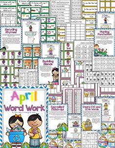 Word Work or guided reading/small group activities