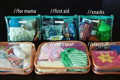 Organizing diaper bag idea. Omg. Yes. This makes so much more sense than throwing a bunch of crap into a bag!