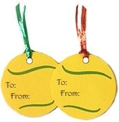 Tennis Party Decorations- gift tags