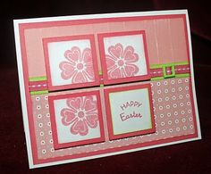 The color is called Hollyhock and I call it fantastic!  Stamped flowers in a similar color, backed with just a touch of green paper, makes a nice handmade Easter card.